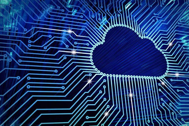 digital image of computer cloud