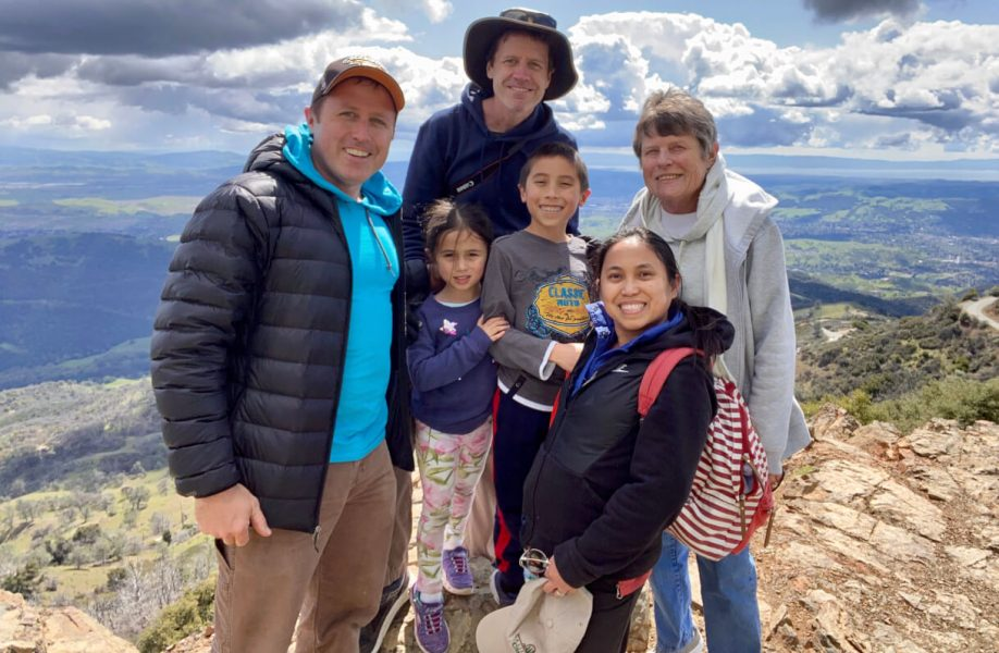 Members of the Johanson family summited Mount Diablo together on a cloudy but happy day.