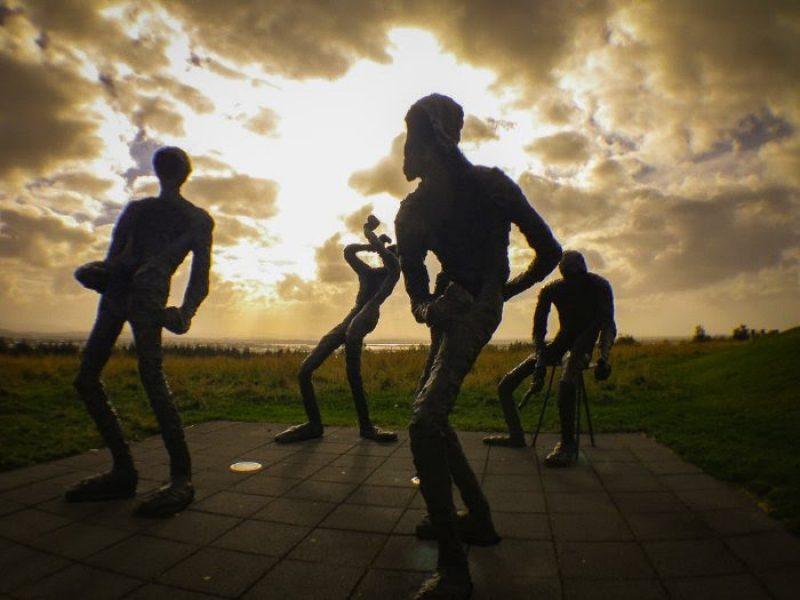 Sculpture installation - John Poimiroo