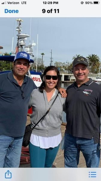 (Left to right) Captain Paul Strasser, Desiree Rodriguez and Captain Mark Pisano are reunited on Friedman Adventures Podcast 35-years after her rescue.